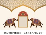 arabic floral template with... | Shutterstock . vector #1645778719