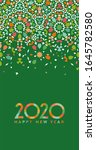 new year 2020 greeting card | Shutterstock . vector #1645782580