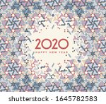 new year 2020 greeting card | Shutterstock . vector #1645782583