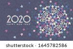 new year 2020 greeting card | Shutterstock . vector #1645782586