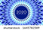 new year 2020 greeting card | Shutterstock . vector #1645782589