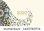new year 2020 greeting card | Shutterstock . vector #1645782976