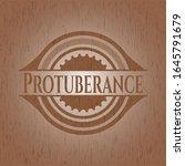 protuberance badge with wood... | Shutterstock .eps vector #1645791679