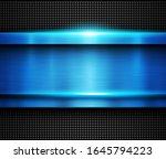 background metallic blue ... | Shutterstock .eps vector #1645794223