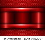 background red metallic  vector ... | Shutterstock .eps vector #1645795279