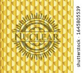 nuclear golden badge or emblem. ... | Shutterstock .eps vector #1645805539