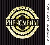 phenomenal shiny badge. vector... | Shutterstock .eps vector #1645805659
