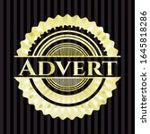 advert gold emblem or badge.... | Shutterstock .eps vector #1645818286