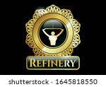 gold shiny badge with lat pull ... | Shutterstock .eps vector #1645818550