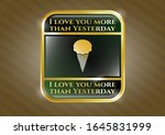 gold badge or emblem with ice... | Shutterstock .eps vector #1645831999