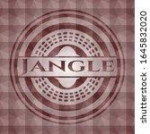 jangle red geometric badge.... | Shutterstock .eps vector #1645832020