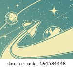 spacecraft retro space theme... | Shutterstock .eps vector #164584448