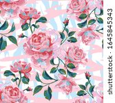 floral seamless pattern made of ...   Shutterstock .eps vector #1645845343