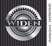widen silvery badge. vector... | Shutterstock .eps vector #1645845640