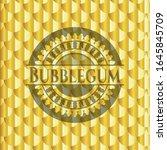 bubblegum gold badge. scales... | Shutterstock .eps vector #1645845709