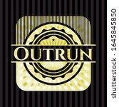outrun golden badge or emblem.... | Shutterstock .eps vector #1645845850