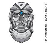 buddha head vector buddhism... | Shutterstock .eps vector #1645850146