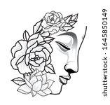 buddha head vector buddhism... | Shutterstock .eps vector #1645850149