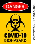 covid 19 biohazard warning... | Shutterstock .eps vector #1645856803