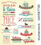 collection of food calligraphic ... | Shutterstock .eps vector #164587730