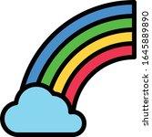 rainbow   weather icon set....