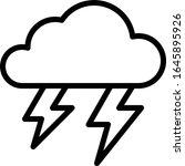 thunder   weather icon set....