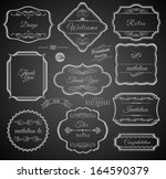vintage calligraphic frames... | Shutterstock .eps vector #164590379