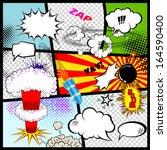 retro comic book speech bubbles.... | Shutterstock .eps vector #164590400