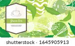 Green Banner For Tea Design....