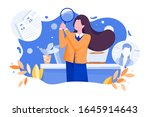 hr manager looking through a... | Shutterstock .eps vector #1645914643