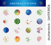 unusual icons set   isolated on ... | Shutterstock .eps vector #164593826