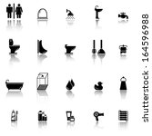 bath and bathroom icons | Shutterstock .eps vector #164596988