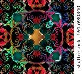 grunge textured lines vector... | Shutterstock .eps vector #1645980340