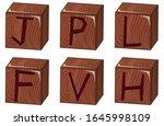 bricks vector illustration on... | Shutterstock .eps vector #1645998109