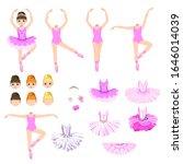 cute little ballerina with a...   Shutterstock .eps vector #1646014039