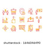 marketing and promotion icons... | Shutterstock .eps vector #1646046490