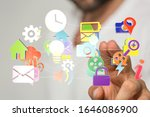 computering cloud computing and ... | Shutterstock . vector #1646086900