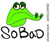 sad green reptile. crocodile in ...   Shutterstock .eps vector #1646110960