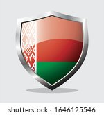 shield of belarus country flag ... | Shutterstock .eps vector #1646125546