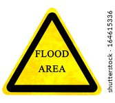 Yellow Flood Sign Isolated On A ...