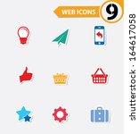 9 easy icons vector | Shutterstock .eps vector #164617058