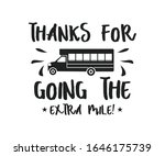 thanks for going the extra mile  | Shutterstock .eps vector #1646175739