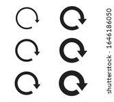 circle arrow icon set  refresh  ... | Shutterstock .eps vector #1646186050
