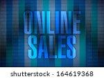 online sales illustration... | Shutterstock . vector #164619368
