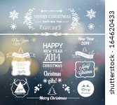 christmas decoration collection | Shutterstock .eps vector #164620433