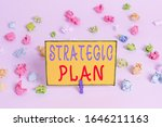 Writing Note Showing Strategic...