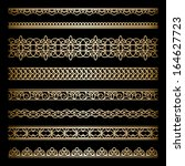 set of vintage gold borders ...   Shutterstock .eps vector #164627723