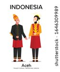 beautiful aceh man and woman... | Shutterstock .eps vector #1646309989