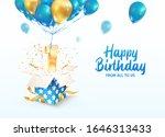 celebrating of 1 st year...   Shutterstock .eps vector #1646313433