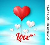 valentine's card template ... | Shutterstock .eps vector #164631968